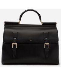 Dolce & Gabbana Calfskin Monreale Travel Bag With Heat-stamped Logo - Black