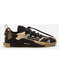Dolce & Gabbana Ns1 Sneakers In Mixed Materials - Black