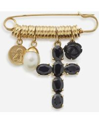 Dolce & Gabbana Devotion Brooch - Metallic