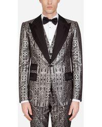 Dolce & Gabbana Smokingjacke Mit Grosgrain-Details - Schwarz