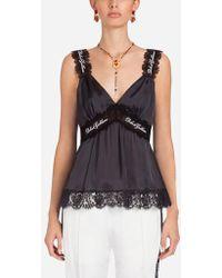 Dolce & Gabbana - Silk Lingerie Top - Lyst