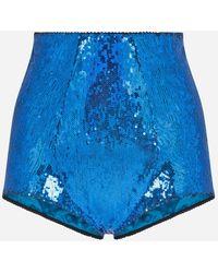 Dolce & Gabbana Sequined Culottes - Blau