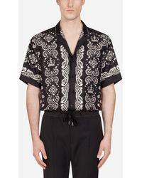 Dolce & Gabbana Hawaii-Hemd Mit Bandana-Print - Schwarz