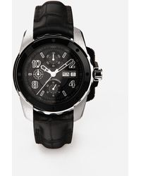 Dolce & Gabbana Ds5 Watch In White Gold And Steel With Pvd Coating - Multicolor