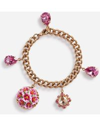 Dolce & Gabbana Armband Mit Dekorativen Charms - Mettallic