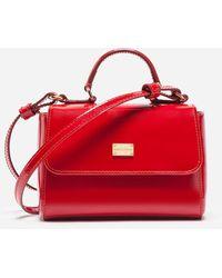 Dolce & Gabbana Sac À Main En Cuir Verni - Rouge