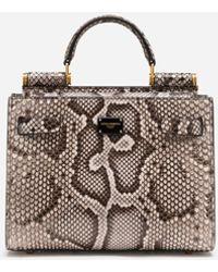 Dolce & Gabbana Sicily 62 Small Bag In Python Skin - Mehrfarbig