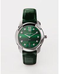Dolce & Gabbana Uhr Dg7 Stahl Mit Malachite Und Diamanten - Grün