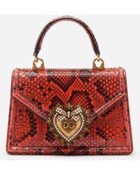 Dolce & Gabbana - Small Devotion Bag In Python - Lyst