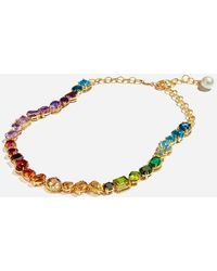 Dolce & Gabbana - Necklace With Multi-colored Gems - Lyst