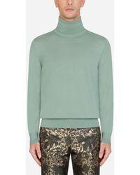 Dolce & Gabbana Cashmere Turtle-Neck Sweater - Grün