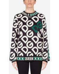 Dolce & Gabbana Jersey Sweatshirt With Dg Logo - Multicolor