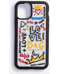 Dolce & Gabbana Iphone 11 Pro Case In Rubber With Writing - Multicolor