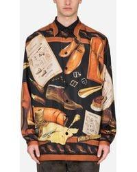 Dolce & Gabbana Cobbler-Print Silk Hawaiian Shirt - Multicolore