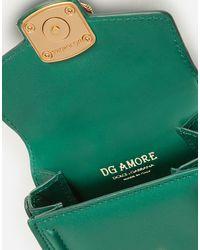 Dolce & Gabbana Micro Bag Dg Amore In Vitello Liscio - Verde