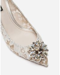 Dolce & Gabbana Pump In Taormina Lace With Crystals - Mehrfarbig