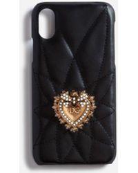 Dolce & Gabbana Calfskin Iphone X Devotion Case - Black