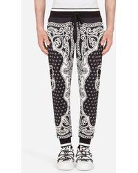 Dolce & Gabbana Jogginghose Mit Bandana-Print - Schwarz