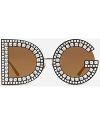 Dolce & Gabbana Occhiali Da Sole Dg Glitter - Nero