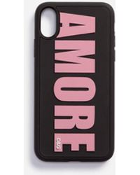Dolce & Gabbana Cover Iphone X In Gomma Amore - Nero