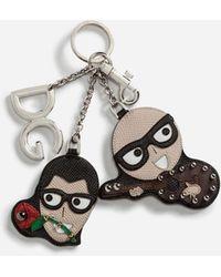Dolce & Gabbana Designers' Charms Keychain - Black