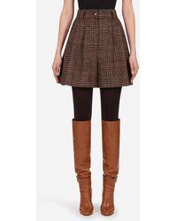 Dolce & Gabbana Glen Plaid Shorts - Brown
