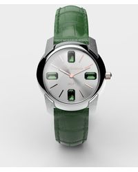 Dolce & Gabbana Uhr Mit Armband Aus Alligatorleder - Grün