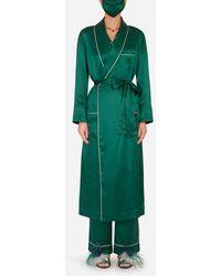 Dolce & Gabbana Silk Robe With Matching Face Mask - Green