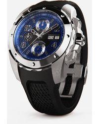 Dolce & Gabbana Ds5 Watch In Steel - Schwarz