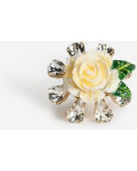 Dolce & Gabbana Ring Mit Rose - Mettallic