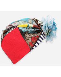 Dolce & Gabbana Patchwork Turban With Floral Appliqués - Multicolor