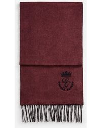 Dolce & Gabbana Scarf In Cashmere And Silk - Violet