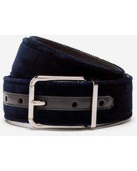 Dolce & Gabbana Velvet Belt - Blue