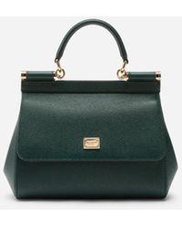 Dolce & Gabbana Medium Dauphine Leather Sicily Bag - Grün