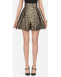 Dolce & Gabbana Short In Jacquard Lurex - Multicolore