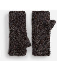 Dolce & Gabbana Half-finger Gloves In Wool And Cashmere - Multicolor
