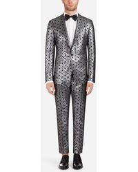Dolce & Gabbana - Gold Suit In Lurex Jacquard - Lyst