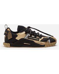 Dolce & Gabbana Sneaker Ns1 In Mix Materiali - Nero