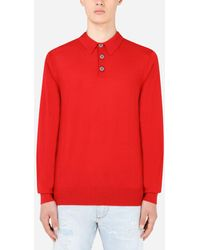 Dolce & Gabbana Cashmere Polo-style Sweater - Red