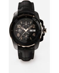 Dolce & Gabbana Ds5 Watch In Red Gold And Steel With Pvd Coating - Multicolor