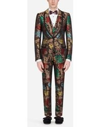 Dolce & Gabbana Floral Jacquard Casinò-fit Suit - Red