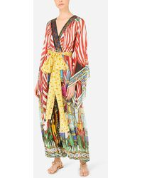 Dolce & Gabbana Carretto-print Chiffon Jumpsuit With Sequined Detailing - Multicolour