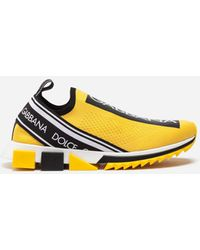 Dolce & Gabbana Branded Sorrento Trainers - Yellow