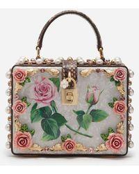 Dolce & Gabbana Dolce Box-Tasche Mit Perlmutt Und Schmuckstickerei - Mehrfarbig