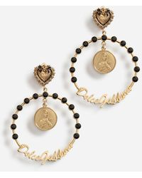 Dolce & Gabbana Clip-Ohrringe mit Glasperlen - Schwarz