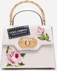 Dolce & Gabbana Mittelgrosse Tasche Welcome Aus Leder - Mehrfarbig