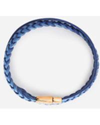 Dolce & Gabbana Woven Leather Bracelet - Blue
