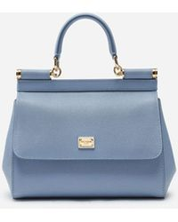 Dolce & Gabbana Small Dauphine Leather Sicily Bag - Blue