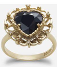 Dolce & Gabbana Herzförmiger Saphirring - Mettallic
