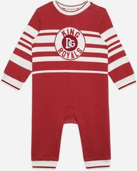 Dolce & Gabbana Jersey Tracksuit With King Royals Print - Rouge